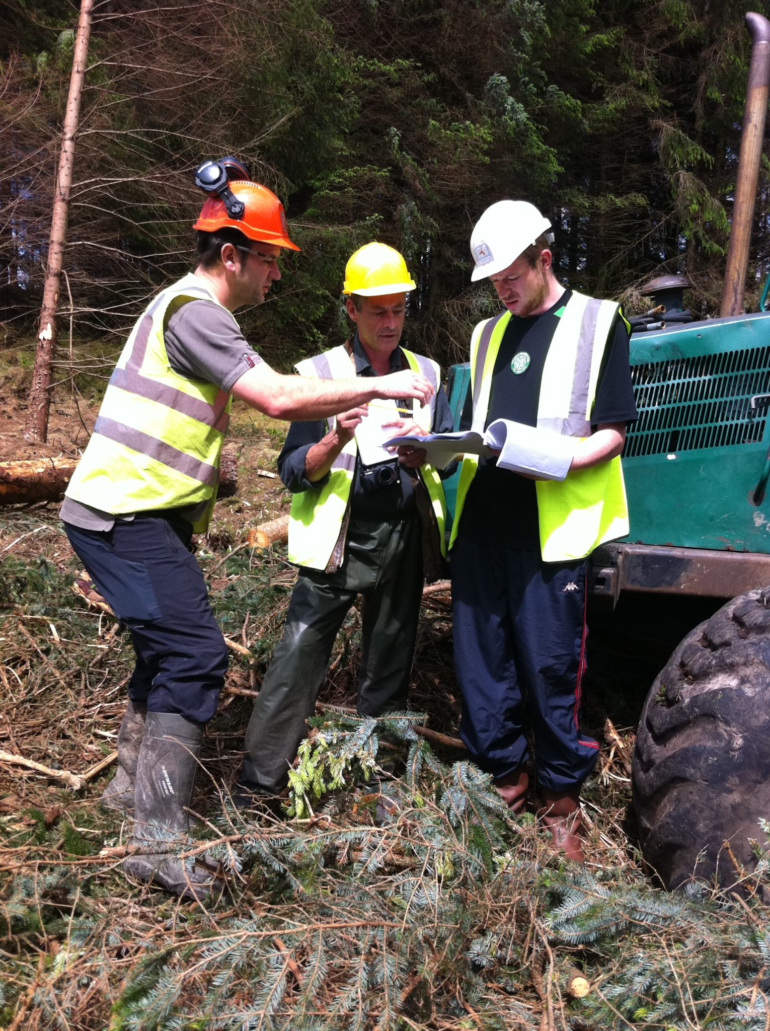 photo of FSC auditor conduction an audit in Coillte forest