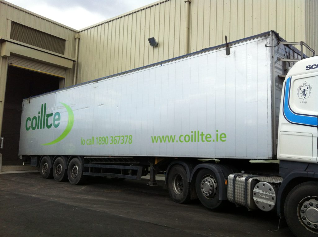 Coillte truck delivering biomass to customers