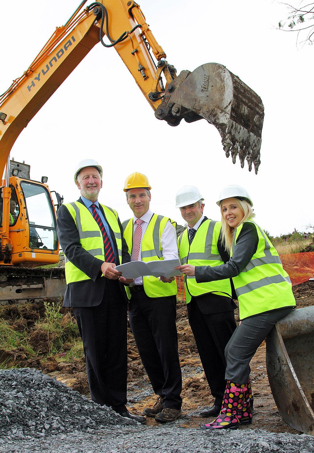 Picture of Coillte and Cavan Burren staff at launch of development
