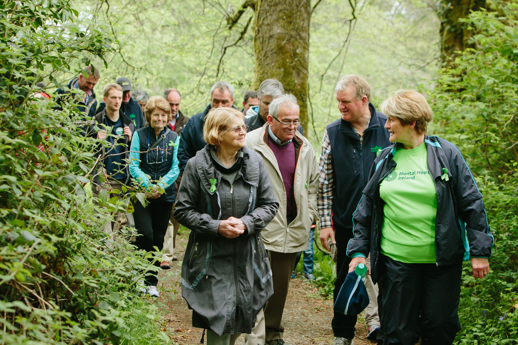 People enjoying a walk in Coillte forests