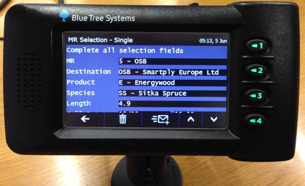 Picture of screenshot of Bluetree forest haulage technolgy