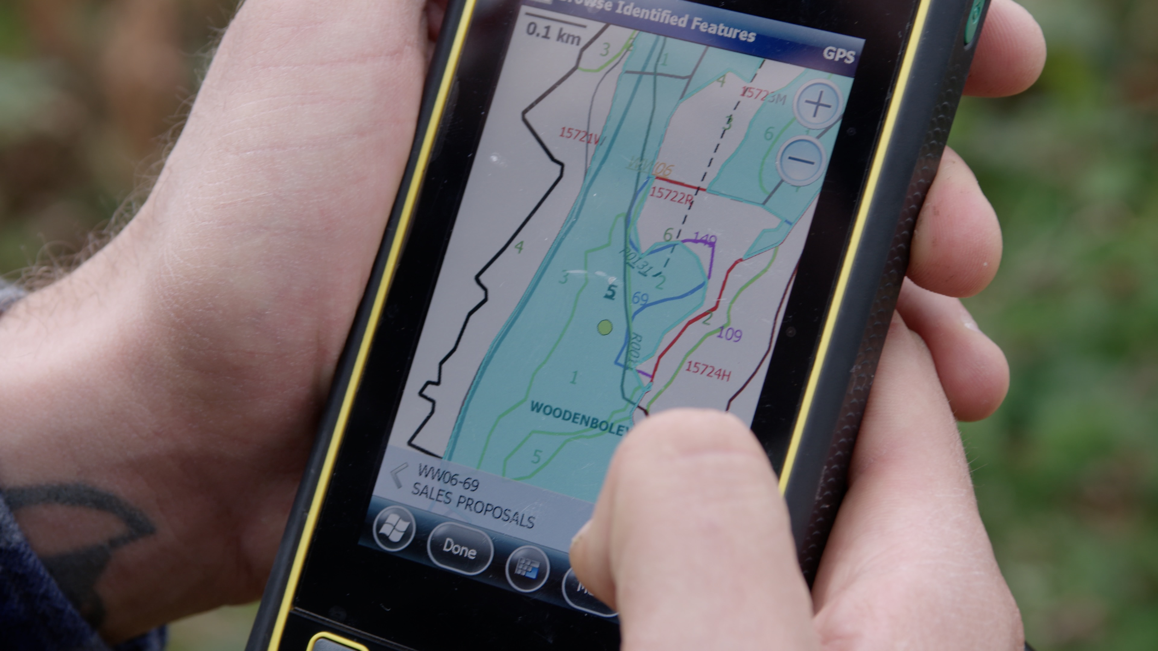 Picture of forest GIS technology at work