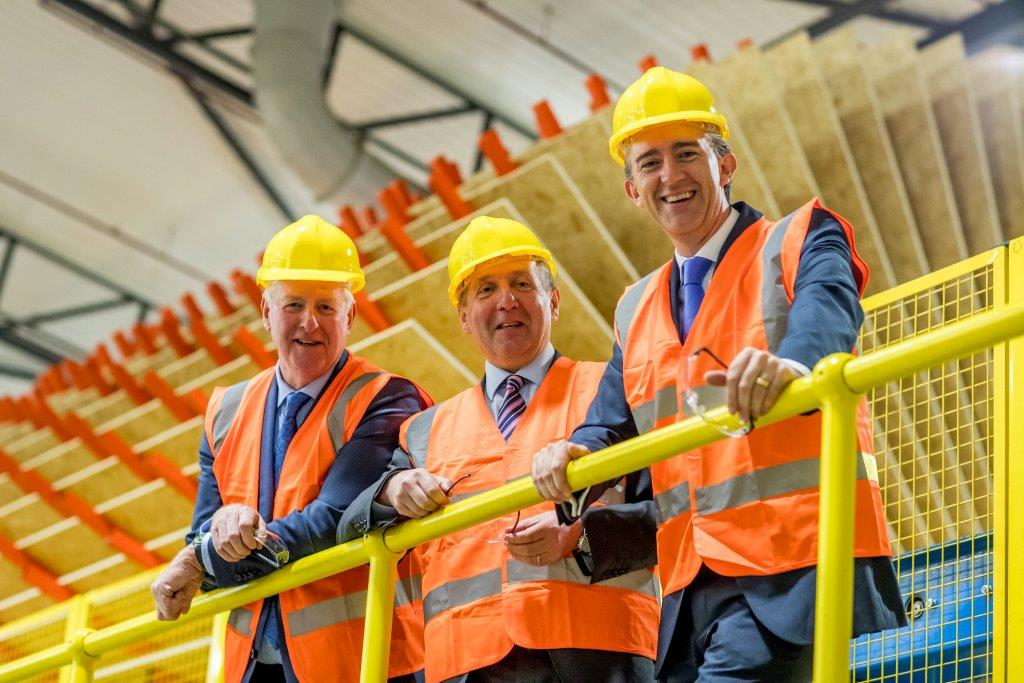 Picture of minister, coillte chairman and coillte ceo opening smartply