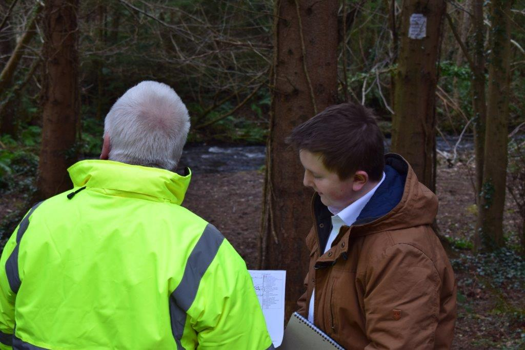 Pictur of student at work with Coillte