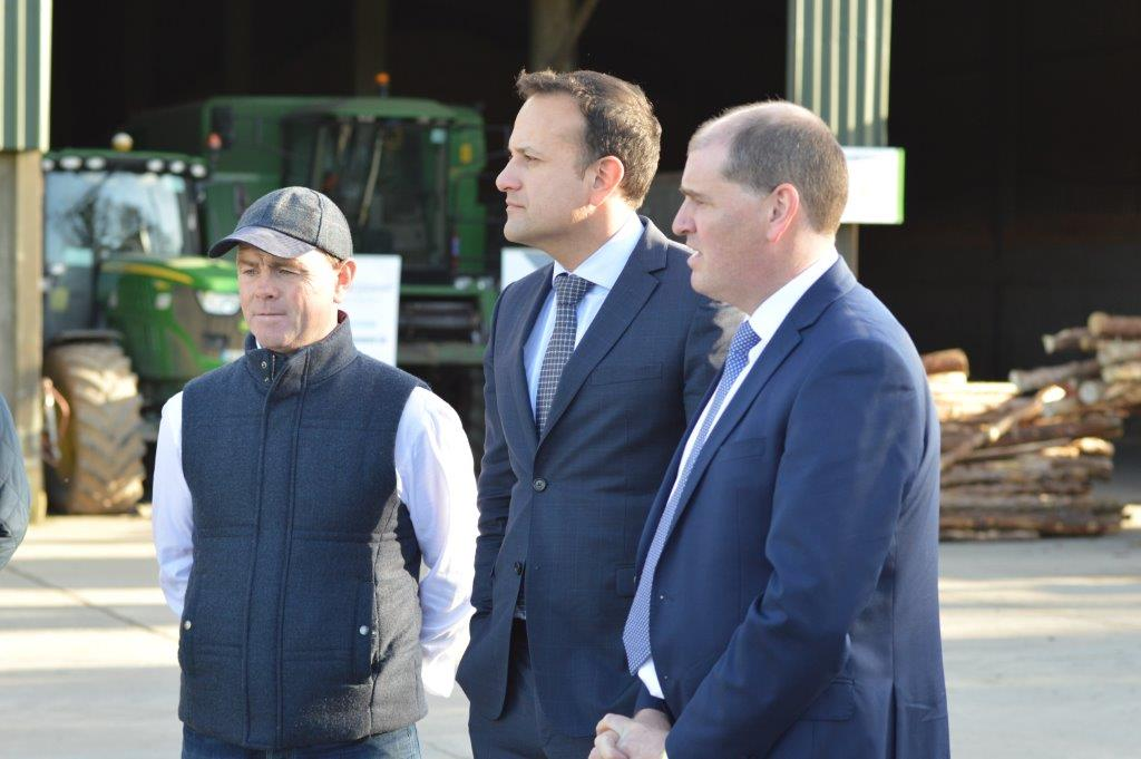 Picture of An Taoiseach at Clonroche Biomass Hub