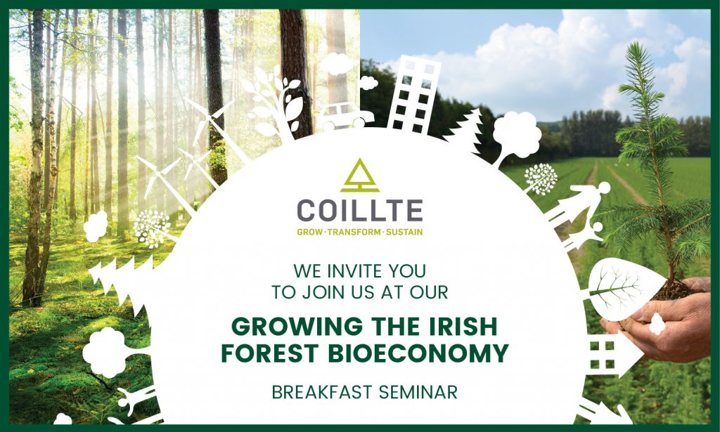 Poster of Coillte Forest Bioeconomy Event