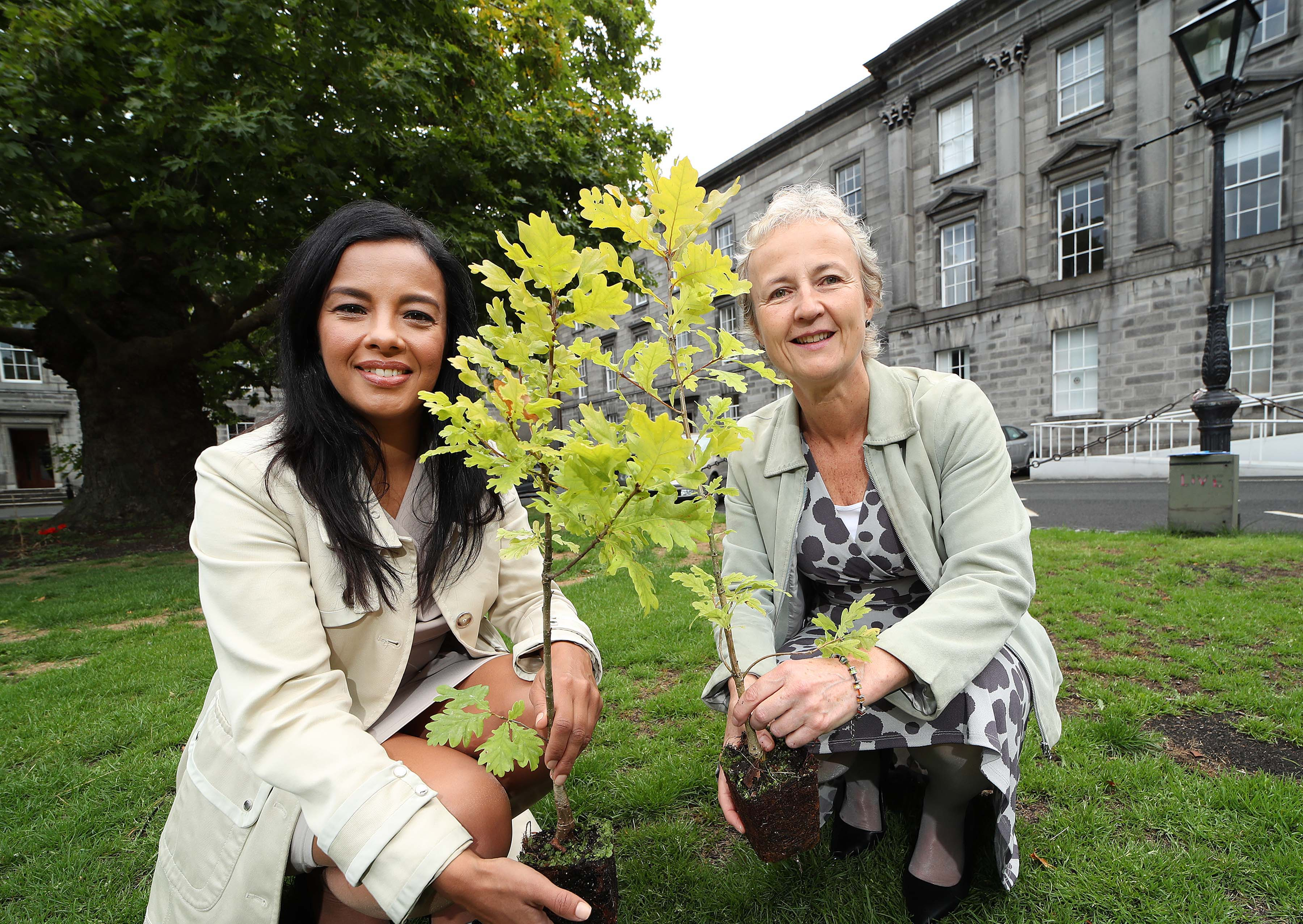 Picture of Liz Bonnin, Biochemist and BBC TV presenter (left) and Aileen O'Sullivan, Coillte Ecologist, pictured at the Biodiversity at Coillte event 2018, in the Science Gallery, Trinity College Dublin. Pic. Robbie Reynolds
