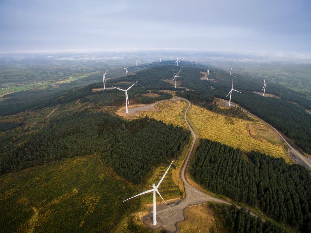 Picture of Coillte's Sliabh Bawn Wind Farm