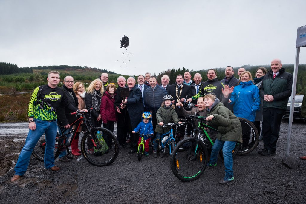 Minister turns sod on Coillte's newest mountain bike development
