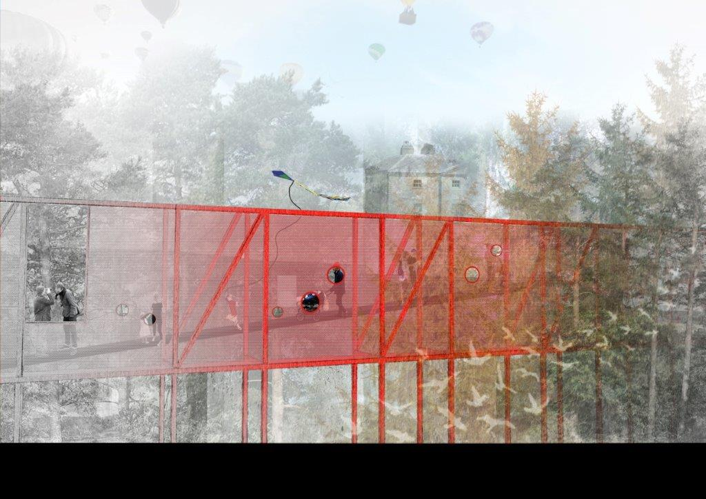 Conceptual drawing of Avondale House and Forest Park Treetop Walkway