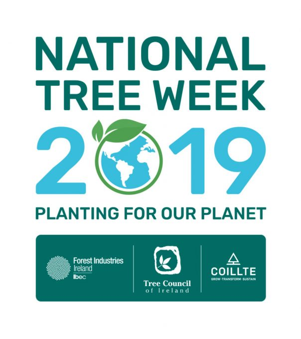 Logo for Tree Week 2019; planting for our planet