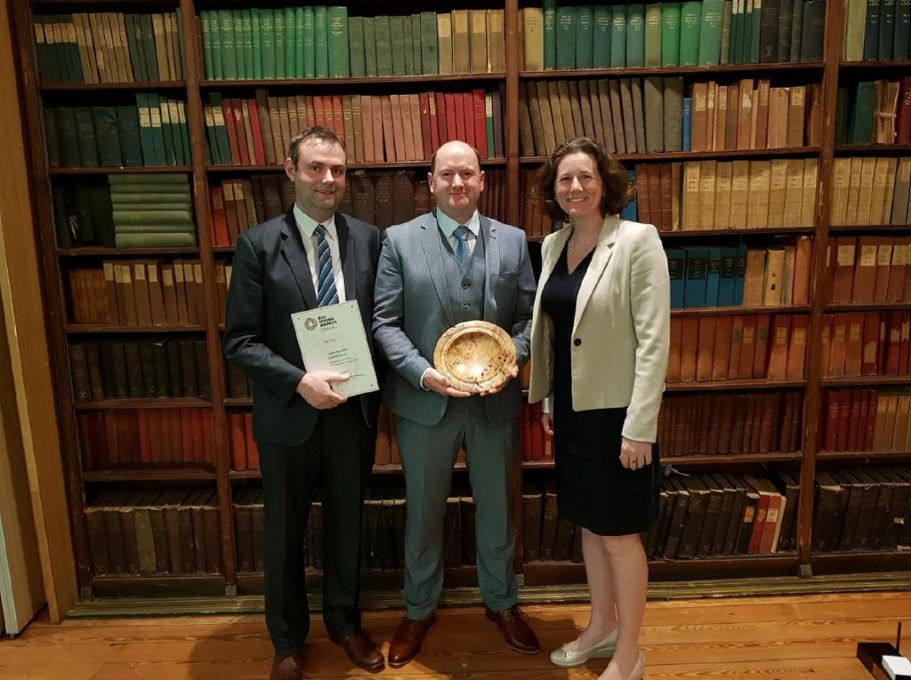 Picture of Coillte staff accepting RDS forestry awards