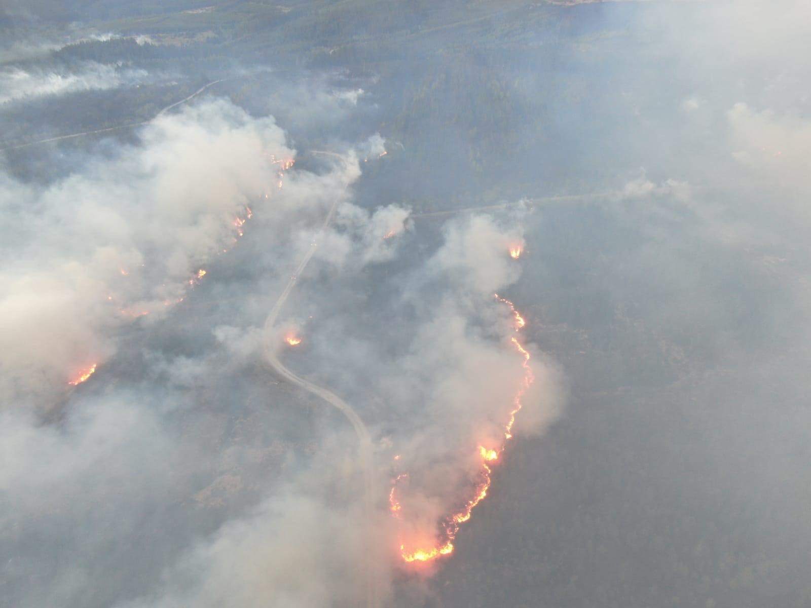 Aerila picture of Ballinamore forest fire