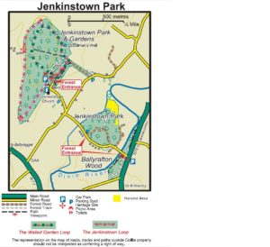 Map of Coillte's recreational forest at Jenkinstown County Kilkenny Ireland