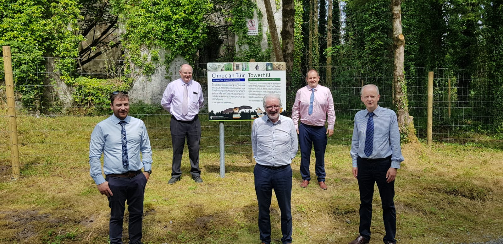 Picture of Coillte, NPWS & Mayo CoCo staff at launch of new Moorehall partnership
